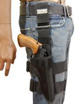 "Barsony New Tactical Leg Holster for 6"" .38 .357 .41 .44 Revolvers"