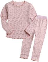 VAENAIT BABY 12M-12 Toddler Kids Girls Boys Snug Fit 100% Cotton Flower Unicorn Pattern Sleepwear Pajama 2pcs Pjs Set