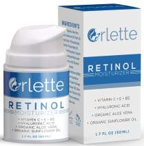 Orlette Retinol Moisturizer - Anti Aging Firming Facial Cream - Reduce Wrinkles, Dark Spots, Fine Lines, Sun Damage - Hydrating Formula with Organic Aloe Vera, Sunflower Oil, Hyaluronic Acid - 50ml