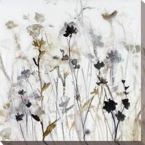 "Picture Perfect International Wildflower Mist I by Carol Robinson Print Canvas Art, 18"" x 18"" x 1"", Gray"