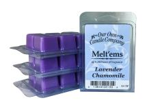 Our Own Candle Company Premium Wax Melt, Lavender Chamomile, 6 Cubes, 2.4 oz (4 Pack)