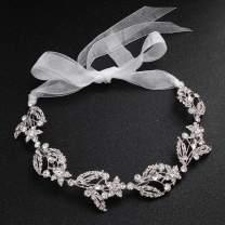 FaFaVila Wedding Silver Vines Handmade Bridal Headband Hair Accessories for Bride and Bridesmaid Rhinestones