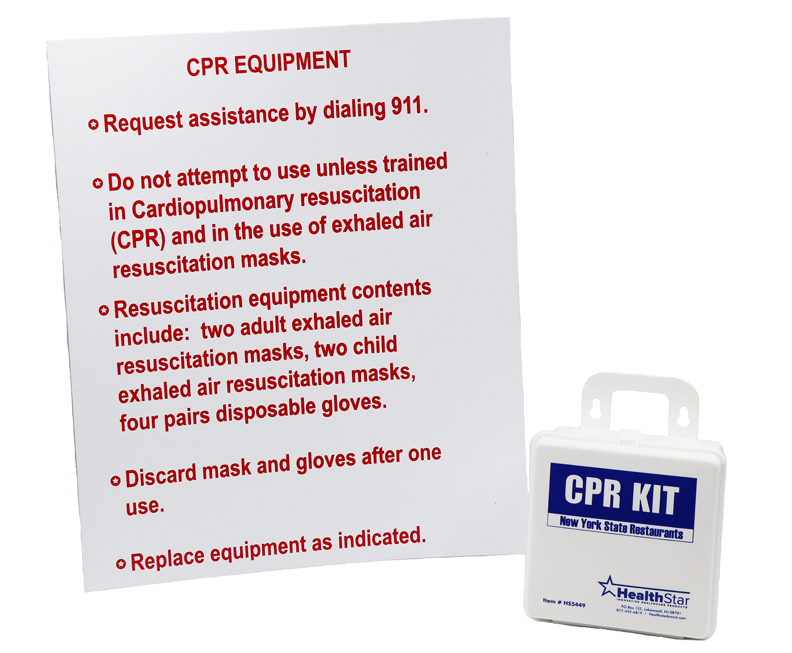 CPR Kit New York State Restaurants With Sign