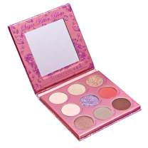Winky Lux Sugar Kitten Eyeshadow Palette, Colored Powder Eye Shadow Palette, Includes 9 Cute Shadows in Metallic, Satin, Matte, Glitter, and Pressed Glitter Cosmetic Finishes, 15.3g