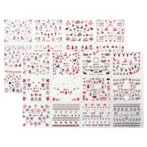 Leipple Christmas Nail Art Stickers Snowflakes Decals 900+ PCS - 24 Designs 3D Reflective Self-adhesive Nail Art Decals Decorations - Snowmen Santa Nails Accessories for Women Girls kid(Christmas 002)