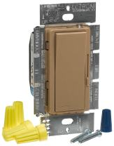 Lutron DVSC-603P-MS Diva 600W 3-Way Dimmer Mocha Stone