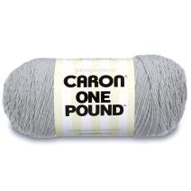 Caron  One Pound Solids Yarn - (4) Medium Gauge 100% Acrylic - 16 oz -  Grey Mix- For Crochet, Knitting & Crafting  ( 1 Piece )