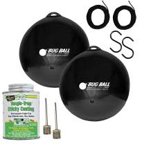 Bug Ball 2 Pack Starter Kit Complete- Odorless Eco-Friendly Biting Fly and Insect Killer with NO Pesticides or Electricity Needed, Kid and Pet Safe