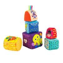 Lamaze Mix & Match Activity Toy Blocks, Multi