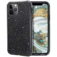 MILPROX iPhone 11 Pro Case, Bling Sparkly Glitter Luxury Shiny Spark Shell, Protective 3 Layer Hybrid Anti-Slick Slim Soft Cover for iPhone 11 Pro 5.8 inch (2019) -Black