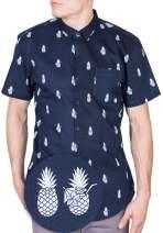 Visive Hawaiian Shirts for Men Short Sleeve Button Down/Up Mens Shirt