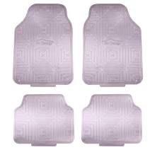 FH Group Charcoal F14410CHARCOAL Metallic Finish Rubber Backing Floor Mats Full Set – Universal Fit for Most Cars Trucks & SUVs