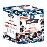 Rip Van Wafels Cookies & Cream Mini Stroopwafels - Low Carb Snacks (3g Net Carbs) - Non GMO Snack - Keto Friendly - Office Snacks - Low Calorie Snack (37 Calories) - Low Sugar (1g) - 32 Pack