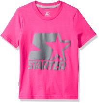 Starter Girls' Short Sleeve Logo T-Shirt, Amazon Exclusive