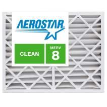 Aerostar 12x20x4 MERV 8, Pleated Air Filter, 12 x 20 x 4, Box of 6, Made in The USA