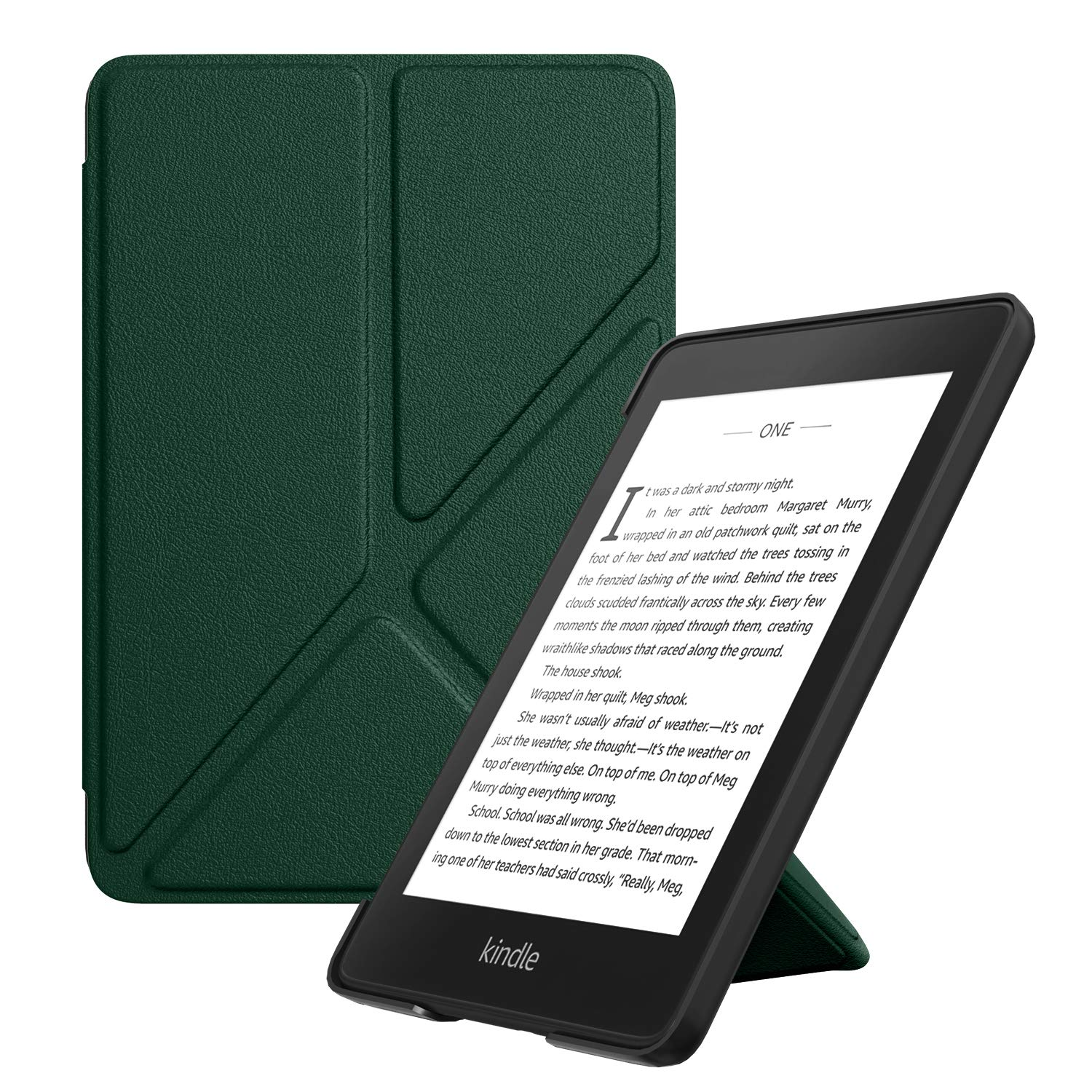 MoKo Case Replacement with Kindle Paperwhite (10th Generation, 2018 Releases), Standing Origami Slim Shell Cover with Auto Wake/Sleep for Amazon Kindle Paperwhite 2018 E-Reader - Army Green