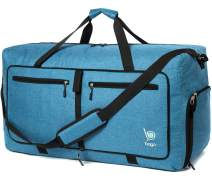 "Bago 60L Packable Duffle bag for women & men - 23"" Foldable Travel Duffel bag (SnowBlue)"