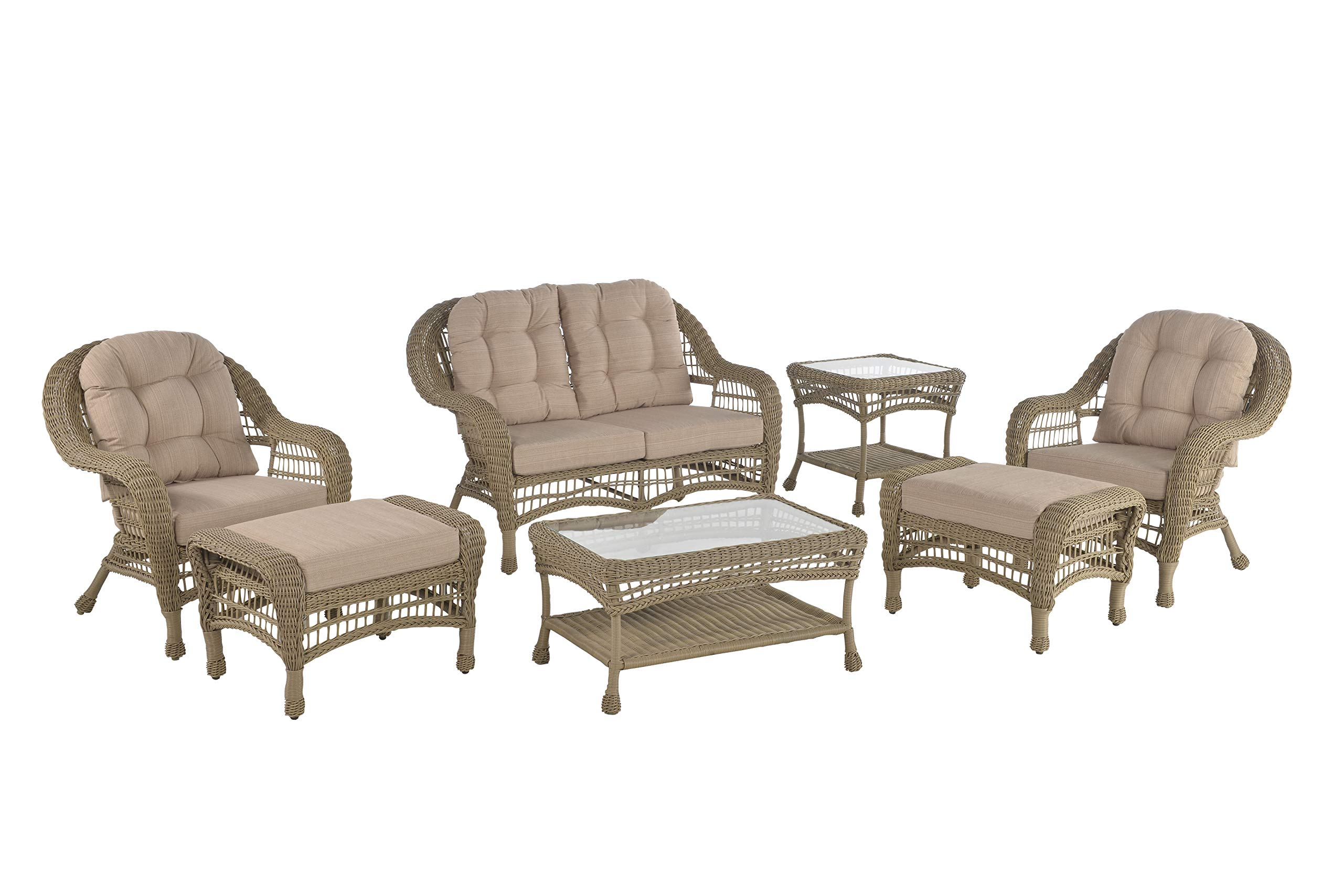 W Unlimited Saturn Collection 7 PCs Furniture Set, Light Brown