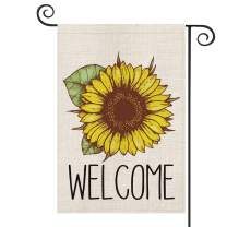 AVOIN Welcome Sunflower Garden Flag Vertical Double Sided, Summer Fall Flag Yard Outdoor Decoration 12.5 x 18 Inch
