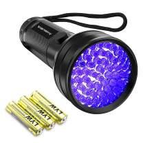 Black Light UV Flashlight,Vansky 2021 Upgraded 51 LED Blacklight Pet Urine Detector For Dog/Cat Urine,Dry Stains,Bed Bug, Matching with Pet Odor Eliminator(Batteries are included)