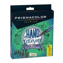 Prismacolor Premier Hand Lettering Set, Assorted Cool Colors, Art Markers, Graphite Pencil, Eraser, 12 Count