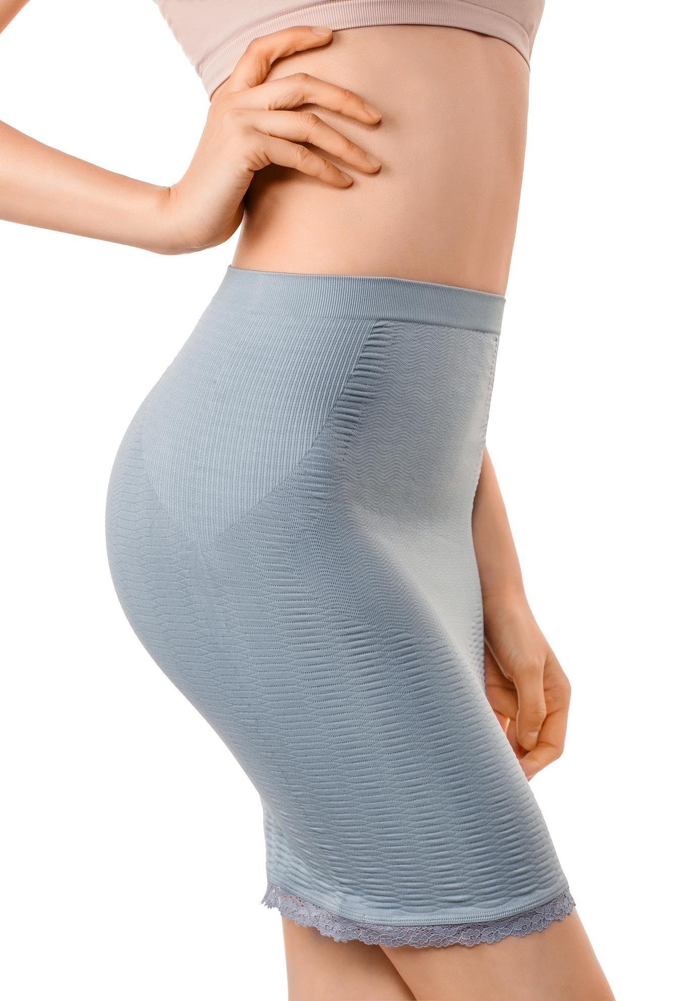 +MD Women's Shapewear Slip High Waisted Body Shaper Butt Lifter Firm Tummy Control Half Slip for Under Dresses