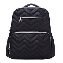 SoHo Blake Diaper Backback Bag 5Pc Chevron, Black