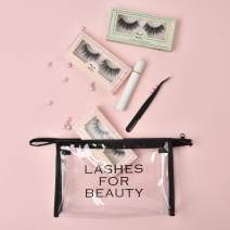 Magnetic Mink Eyelashes and Eyeliner, 3D Magnetic Lashes Kit with 3 in 1 Tweezer and Make-up Bag, Upgraded Version, No Glue Needed