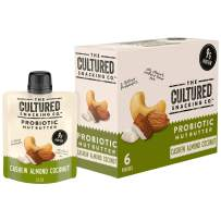 The Cultured Snacking Co. Probiotic Nut Butter, Cashew Almond Coconut, 9 Grams Protein, Gluten-Free, 1.6 oz., 6 Pack, 6 Count (Pack of 4)