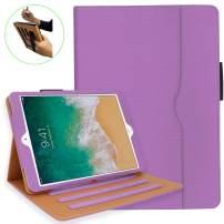 iPad 10.2 Case, iPad 7th Generation Case with Pencil Holder - Multi-Angle Stand, Hand Strap, Auto Sleep/Wake for iPad 7th Gen, iPad 10.2 2019(Light Purple)