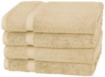 Pinzon Organic Cotton Bath Towel, Set of 4, Sand
