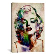 iCanvasART Watercolor Marilyn Monroe by Michael Thompsett Canvas Art Print, 40 by 26-Inch