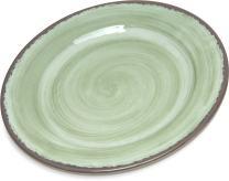 "Carlisle 5400746 Mingle Melamine Bread & Butter Plate, 7"", Jade (Set of 12)"