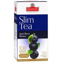 Riston Premium Natural Slim Tea with Acai Berry Flavour for Detox and Weight Management, 20 Tea Bags