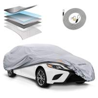 Motor Trend OC744CAM 7 Layer Series Ultra Protect Outdoor Car Cover Custom Fit for Toyota Camry 1991-2018 Tight Seal Waterproof All Weather