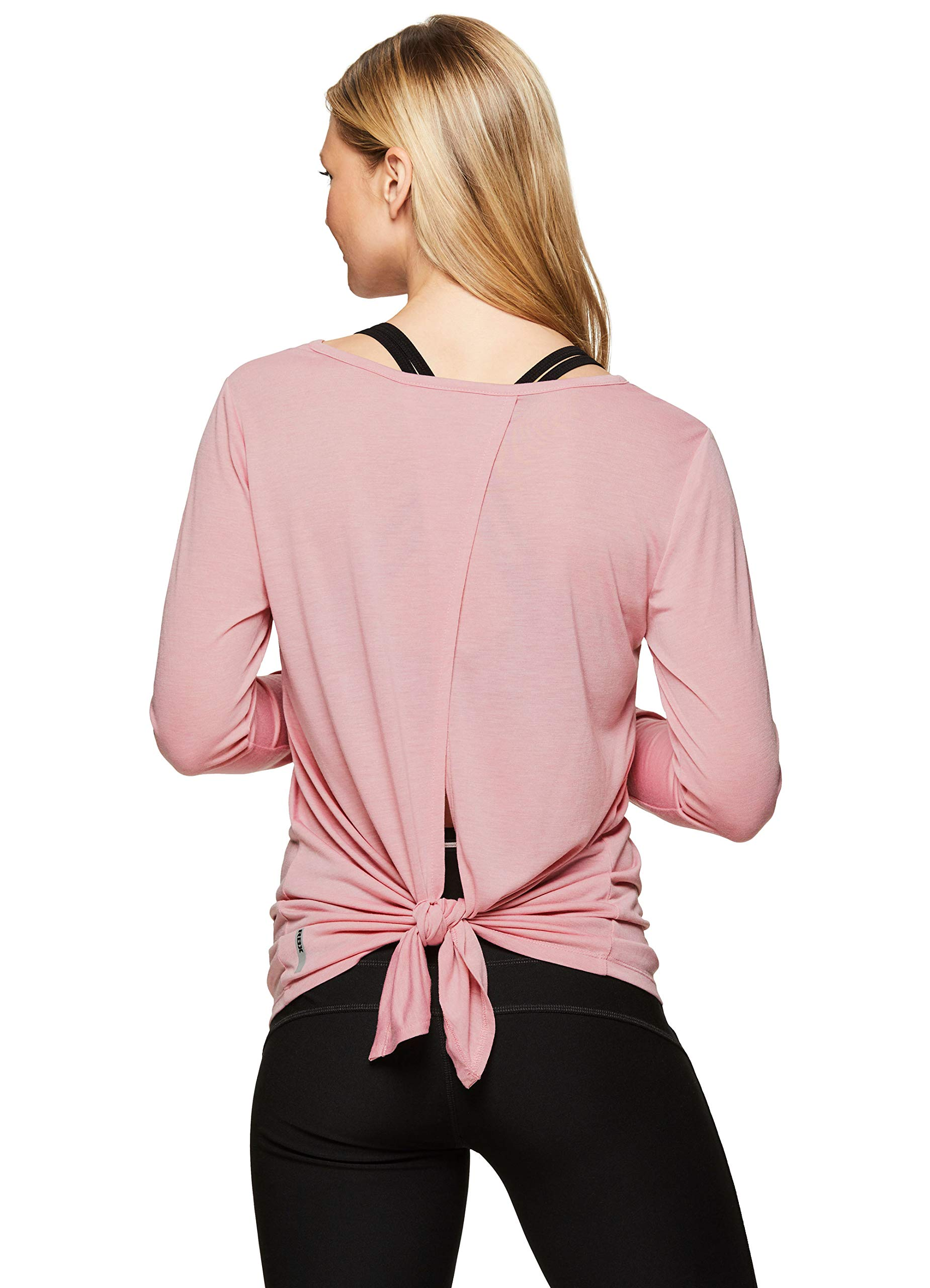 RBX Active Women's Long Sleeve Tie Back Workout Yoga Top
