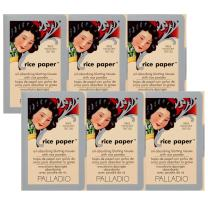 Palladio Rice Paper Tissues Translucent 40 Sheets (Pack of 6) Face Blotting Sheets with Natural Rice Powder