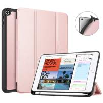 Fintie Case with Pencil Holder for iPad Mini 5 2019 - [SlimShell] Lightweight Soft TPU Back Protective Smart Stand Cover with Auto Wake/Sleep for New iPad Mini 5th Gen 2019, Rose Gold