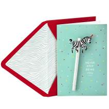 Hallmark Signature Birthday Greeting Card for Kid with Removable Pencil (Never Stop Being You)