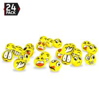 "3"" Party Pack Emoji Stress Balls - Stress Reliever Party Favors, Toy Balls, Party Toys (24 Pack)"