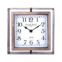 NIKKY HOME Rotating Table Clock, Silent Non-Ticking Battery Operated Decorative Desk Clock for Home, Office, Living Room, Bed Room