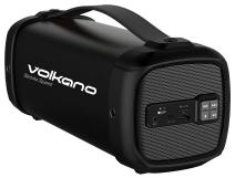 Volkano Portable Bluetooth Speaker, 3 Inch Powerful Subwoofer with Rich Bass, Dynamic Crystal Clear Sound, USB and SD Card Slot, Convenient Carry Handle [Black] - Bazooka Squared Series