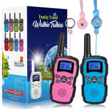 Wishouse 2 Walkie Talkies for Kids, Two Way Radio Family Talkabout Long Range,Outdoor Game Camping Hiking Spy Amy Police Toys,Birthday Xmas Gifts for 3 4 5 6 7 8 9 10 Year Old Girls Boys (No Battery)