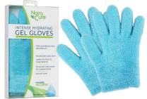 NatraCure Moisturizing Gel Gloves - (For Dry, Cracked Skin, Aging Hands, Cuticles, Eczema, After Hand Washing, Instead of Overnight Sleeping Gloves, Lotion, Cream) - Color: Aqua