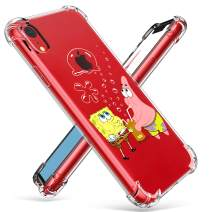 """Coralogo for iPhone XR TPU Case, 3D Cute Cartoon Funny Design Unique Character Protective Kawaii Fashion Fun Cool Stylish Cover Kits Skin Teens Kids Girls Boys Cases for iPhone XR 6.1"""" (Sponge Patrick"""