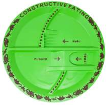 Constructive Eating Dinosaur Plate for Toddlers, Infants, Babies and Kids - Flatware Toys are Made in The USA with FDA Approved Materials for Safe and Fun Eating