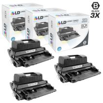 LD Compatible Toner Cartridge Replacement for HP 90X CE390X High Yield (Black, 3-Pack)