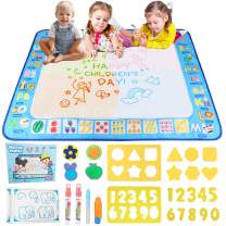 Dozod Aqua Magic Doodle Mat Kids Toys Coloring Water Drawing Mat No Mess Educational Safe Toys Gift for Toddlers Boys Girls Age 2 3 4 5 6 7 8 Year Old