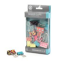 U Brands Binder Clips, Medium 1-Inch Width, Small 3/4-Inch Width, Pop Spring Fashion Colors, 12-Count - 234U06-24