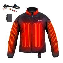 Venture Heat 12V Motorcycle Heated Jacket Liner with Wireless Remote, 7 Heating Zones - 75 Watt, Deluxe Protective Gear